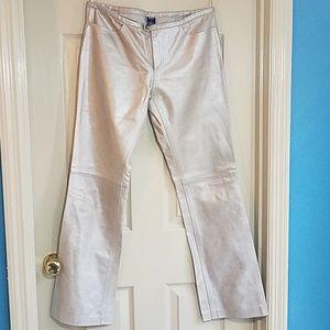 Gap 6 Leather Pants Gold